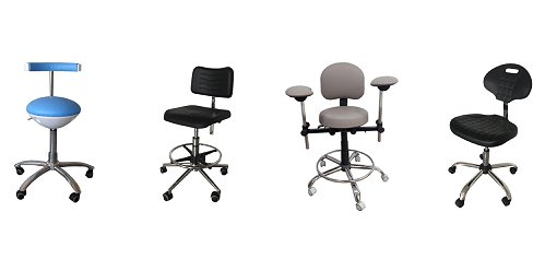 Chairs and helmets for medical staff, office, waiting rooms, hollows