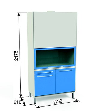 L-3H Lab cabinet with exhaust system and heating unit