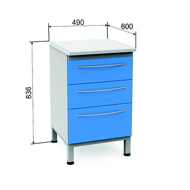 Module P-03 with 3 drawers