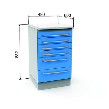 Module A-06 with 6 drawers