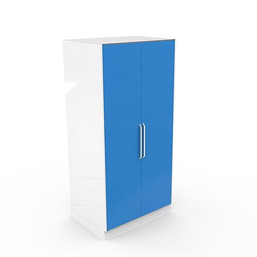 А-108С* Glass locker with 2 metal doors and 4 metal shelves