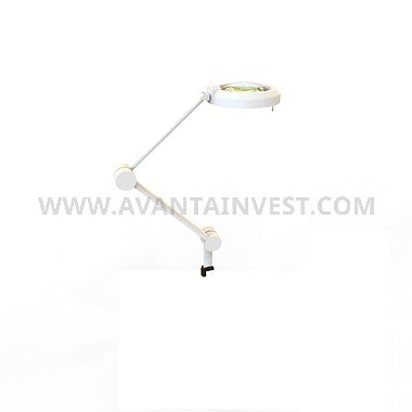 СН-2 Directional light lamp on bracket with magnifying glass