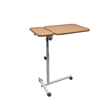 Bedside table of  Goose-type with manual height adjustment (with 2 tabletops)