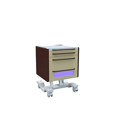 Doctor's mobile table А-016B, 2 drawers and germicide lamp Philips