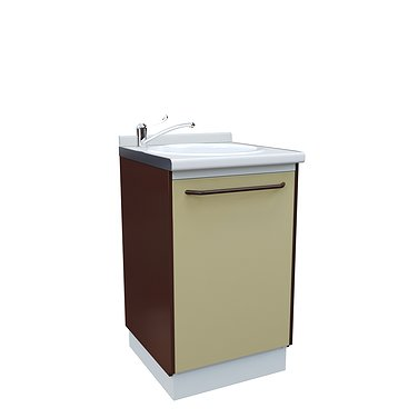 Module A-10M with sink, faucet and wastebasket