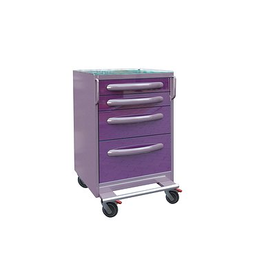 Doctor's mobile table P-014, 4 drawers