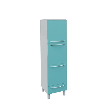 Locker SHK-4 with 3 doors, box and 3 shelves