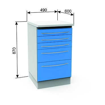 Module A-05 with 5 drawers