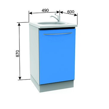 Module А-10М with sink, faucet and wastebasket