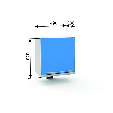 Germicidal suspension module A-17B with the lower light, glass door, a shelf and a lamp