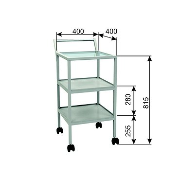 Т-01 trolley with glass top and 2 shelves
