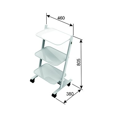 Т-08 mobile stand for additional equipment with 3 shelves