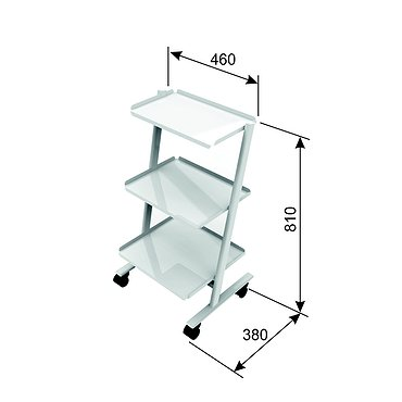 T-09 mobile stand for additional equipment with 3 shelves