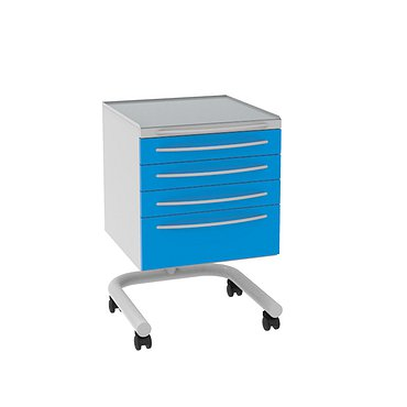 Doctor's mobile table A-014 with 4 boxes