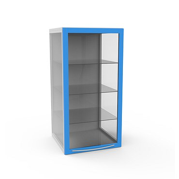 Glass locker with 3 shelves and inner highlighting (can be installed on any of stationary modules)