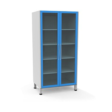 Glass locker A-108S with 4 shelves