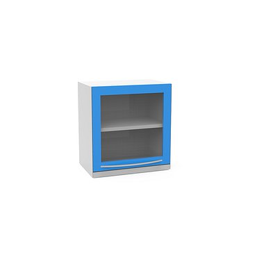 Suspended module A-16Y with glass door shelf, and lower highlighting