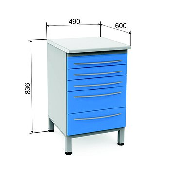 Module P-05 with 5 drawers