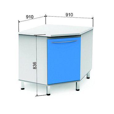 Corner module P-10* with door and 1 shelf
