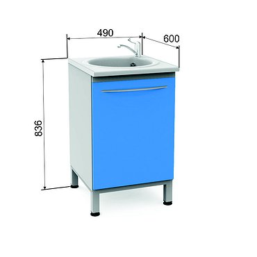 Module P-10М with sink, faucet and wastebasket