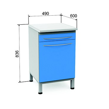 Module P-12 with door and drawer