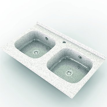 Granolithic double sink
