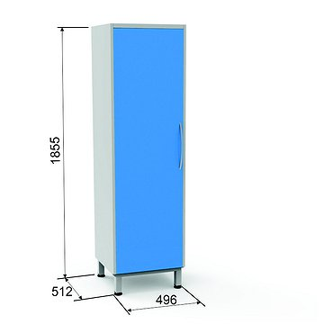 Locker SHK-2 with shelf and hanger rail