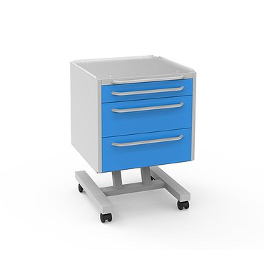 Doctor's mobile table А-013, 3 drawers