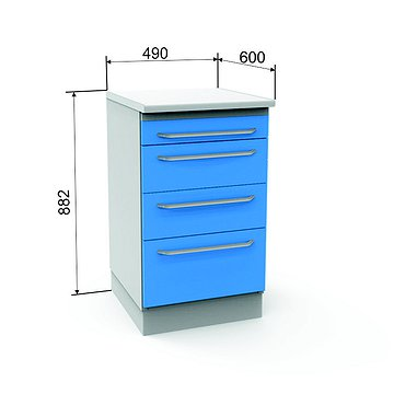 Module A-04 with 4 drawers