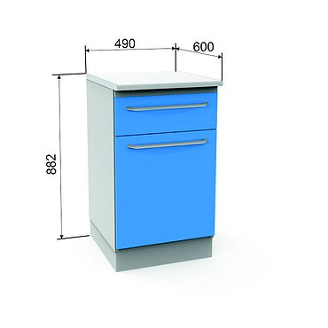 Module A-12 with drawer, door and 2 shelves
