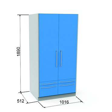 Locker SHK-3 with 4 drawers and 3 shelves