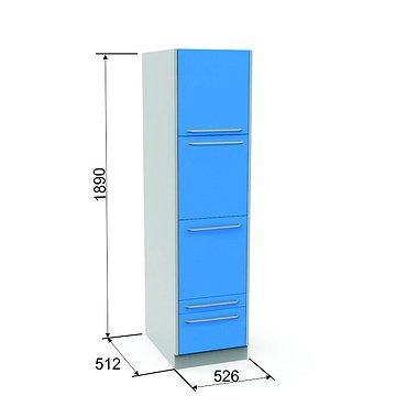 Locker SHK-4 with 2 drawers and 3 shelves